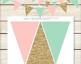 Descarga inmediata / / color de rosa y oro de la por papernoteandco
