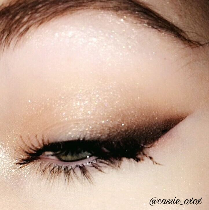 Smoked out winged eyeliner.