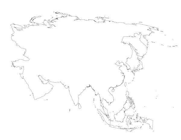 Blank Map of Asia Printable Maps Pinterest Asia