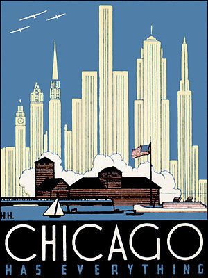 SEAGULL OUTWARD BOUND CHICAGO ILLINOIS SOUTH SHORE VINTAGE POSTER REPRO SMALL   eBay
