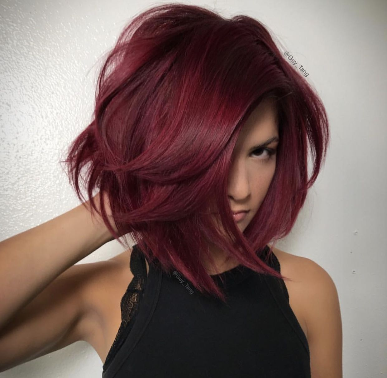 Red Raspberry hair color for Fall