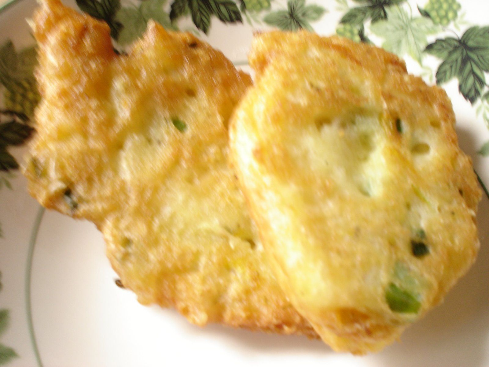 ChickpeaZuchinni Blossom Fritters with Manchego Cheese