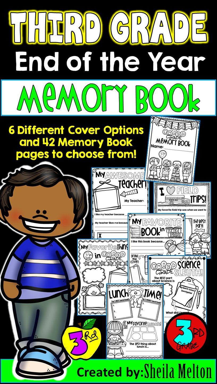 Third Grade Memory Book End Of Year Third Grade Memory Books Writing Activities [ 1440 x 816 Pixel ]