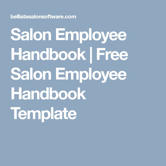 salon employee handbook free salon employee handbook