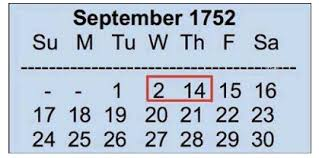 Calendar September 1752 England Switched From Roman Julian Calendar To Gregorian Calendar Julian Cale Historical Facts Good Morning Messages History Lessons