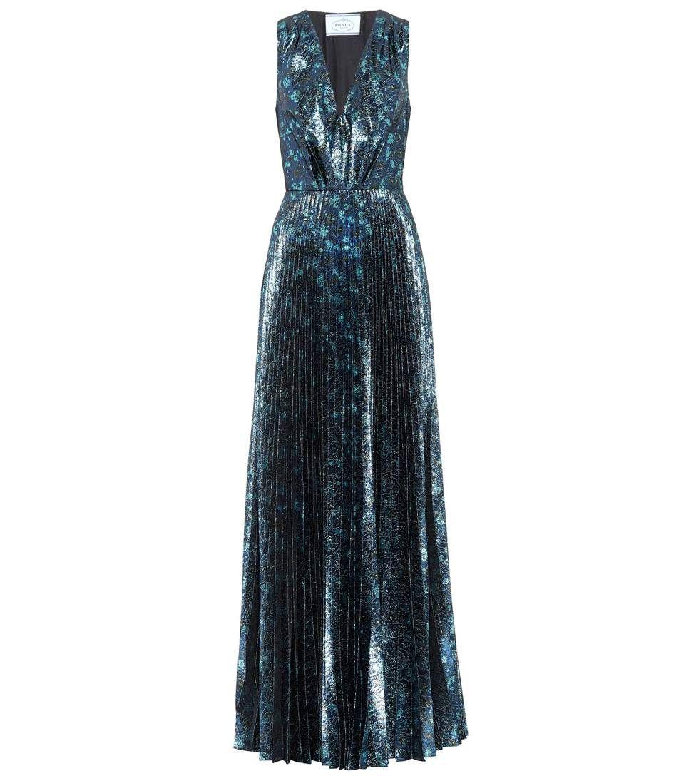 3dcdbfec71 Robe longue en brocart bleu   une envie de robes   Robe, Robe longue ...
