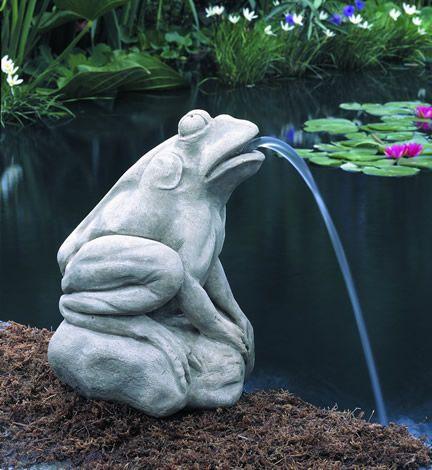 Longwood Italian Water Garden Frog Cast Stone Statue Made By Campania International