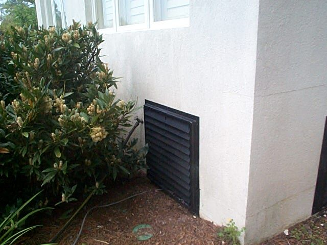 24x24 Flood Vent Installed On A House In Florida Flood Vents Crawl Space Door Flood Protection