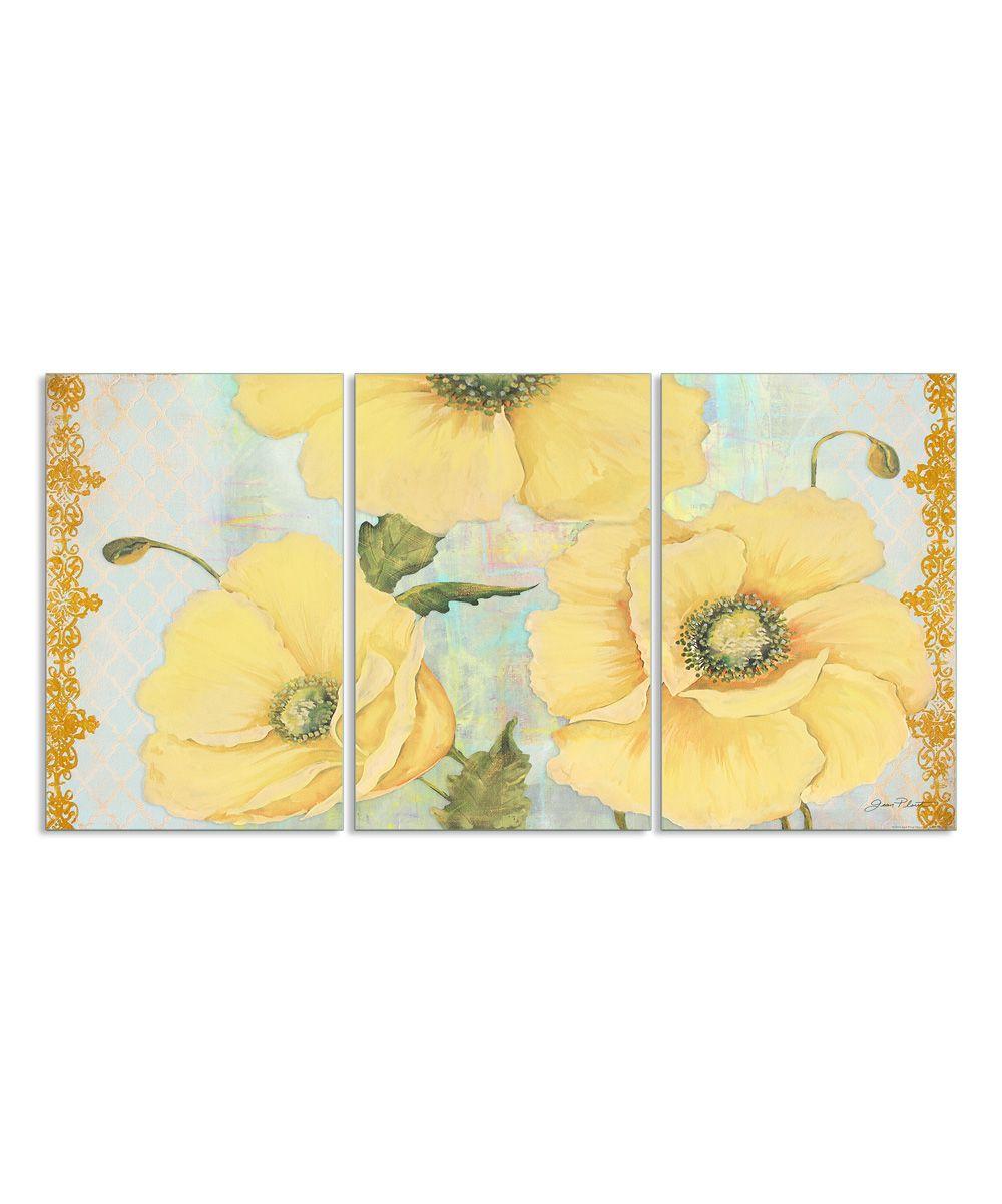 Yellow Poppies   Art   Pinterest   Triptych wall art, Wall art sets ...