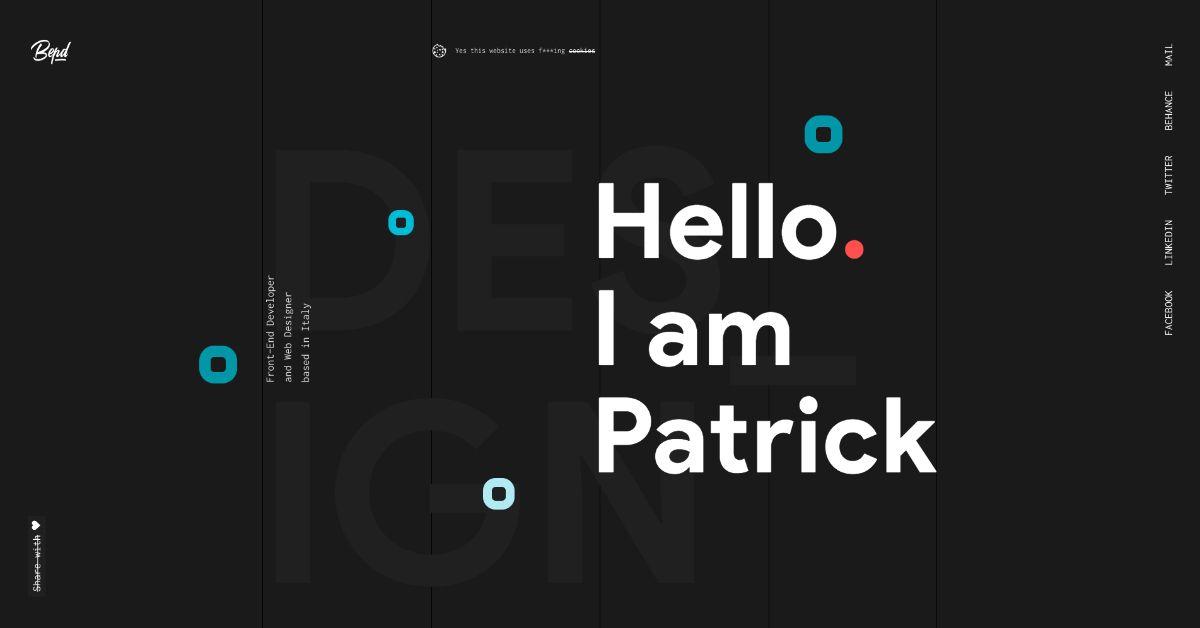 Patrick David. Italian Front-End Dev, Web Designer. Website, UI/UX, WordPress Dev. Developer based in Belluno.