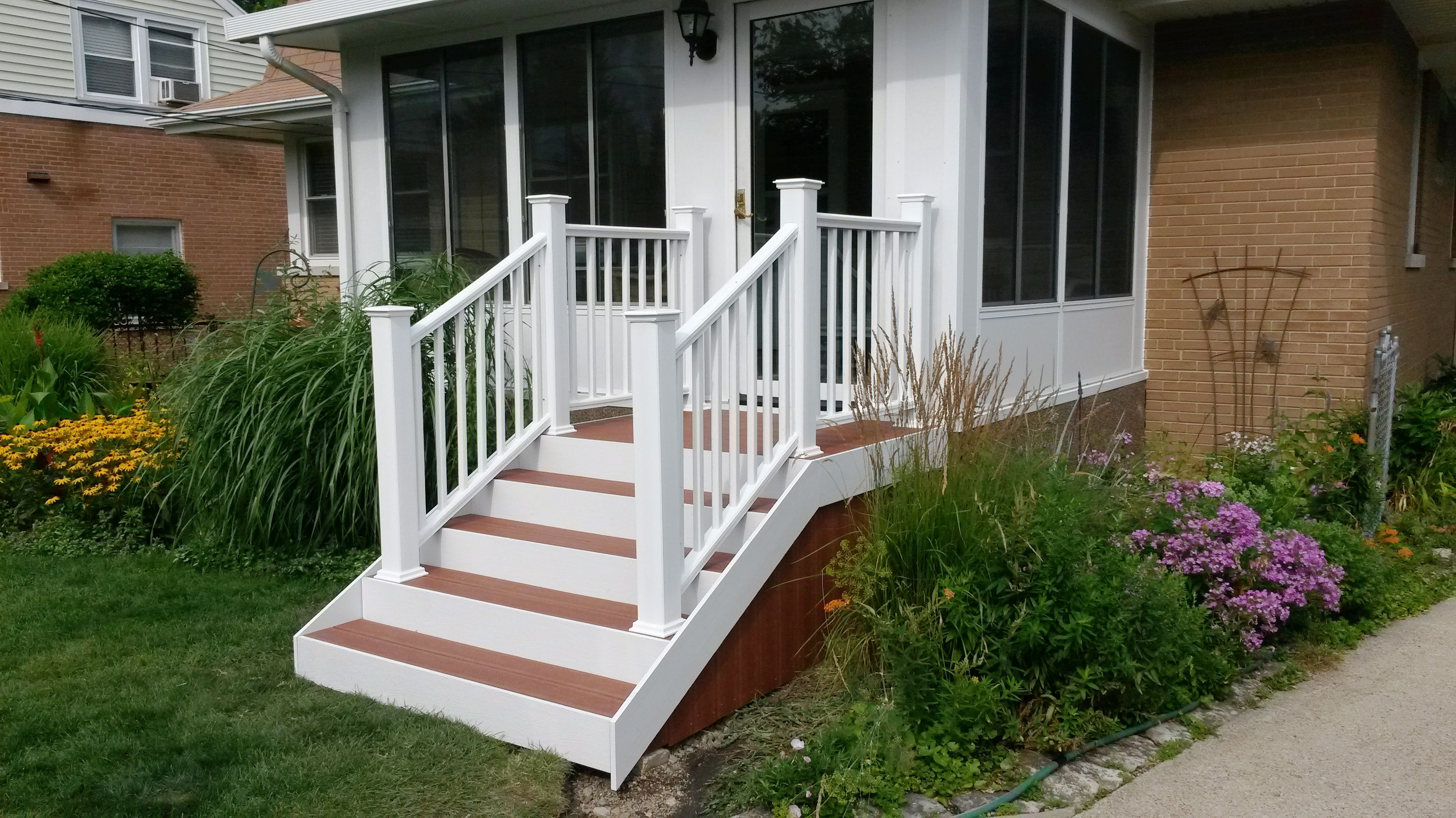 Best Menards Ultradeck Stairs In The Rustic Style With Redwood 400 x 300