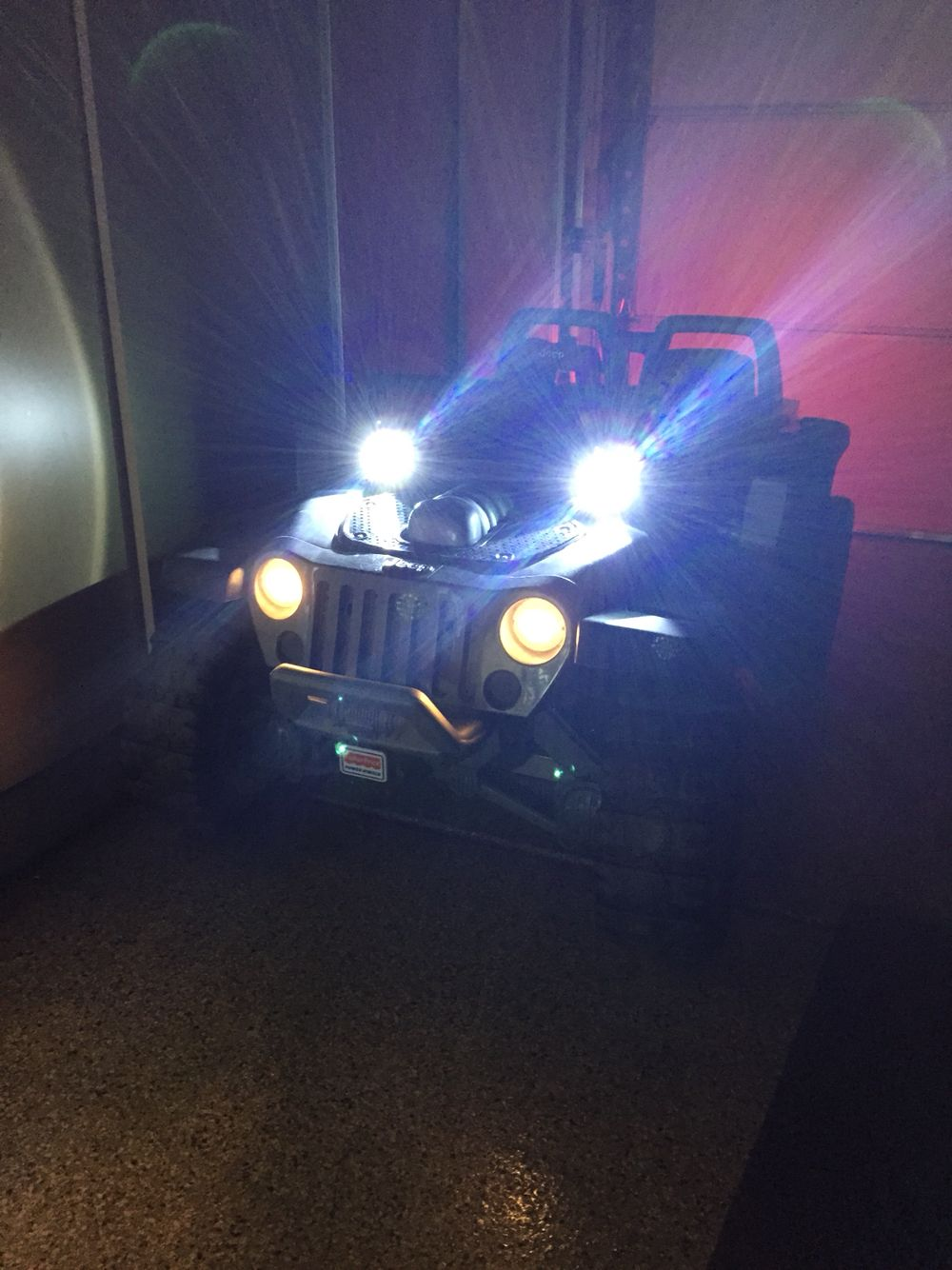 Modified Power Wheels Jeep Hurricane Lights Running On Separate