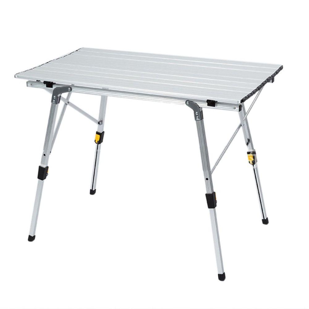 Portable Table De Camping En Plein Air Or En Alliage D Aluminium