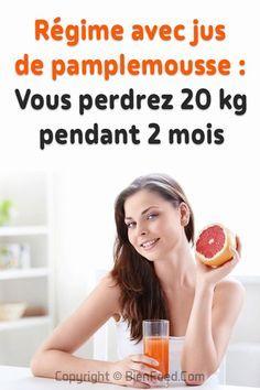 Régime avec jus de pamplemousse - Vous perdrez 20 kg
