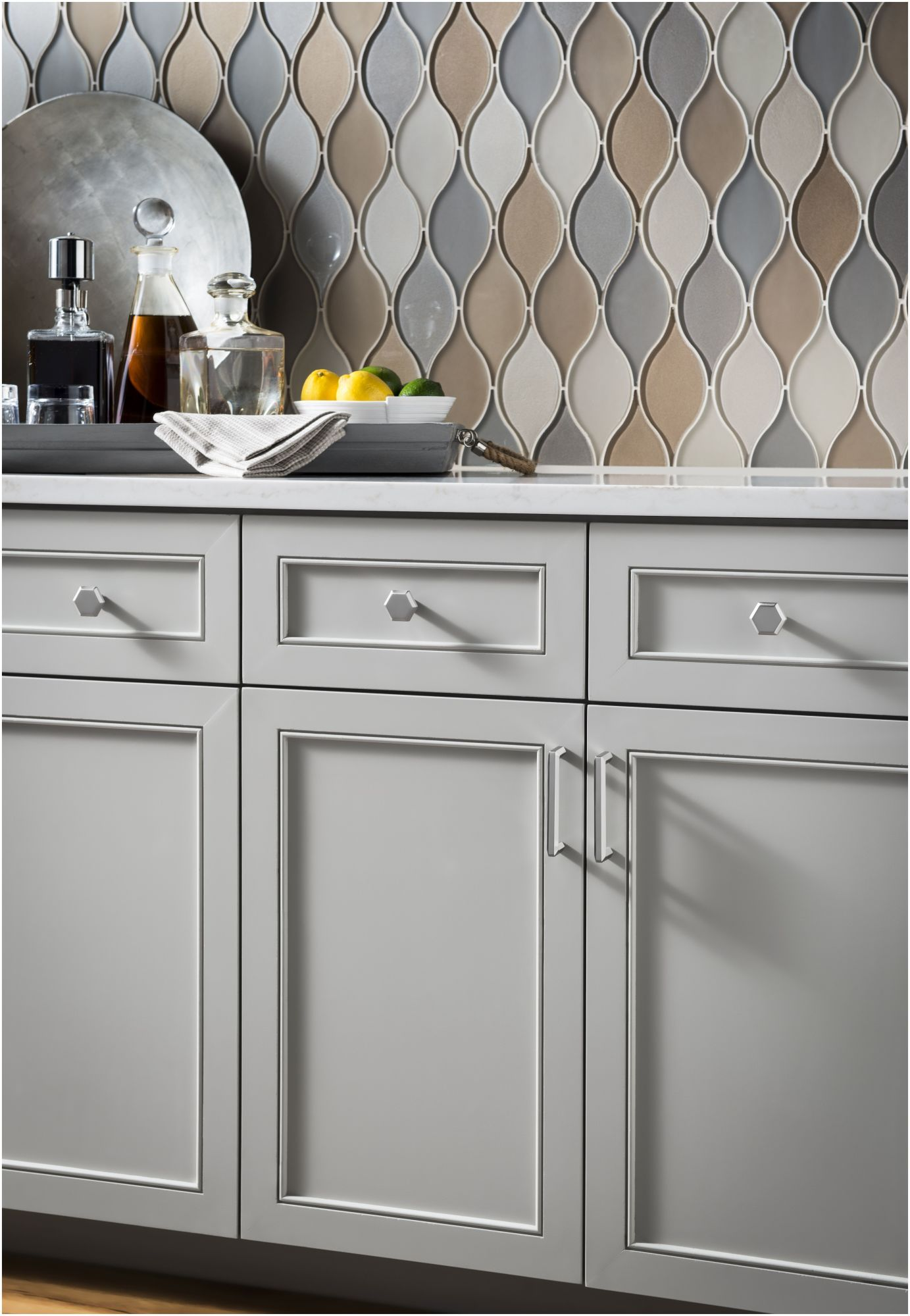 Pin On Glass Mosaic Tile Kitchen Kitchen cabinet pull and handles