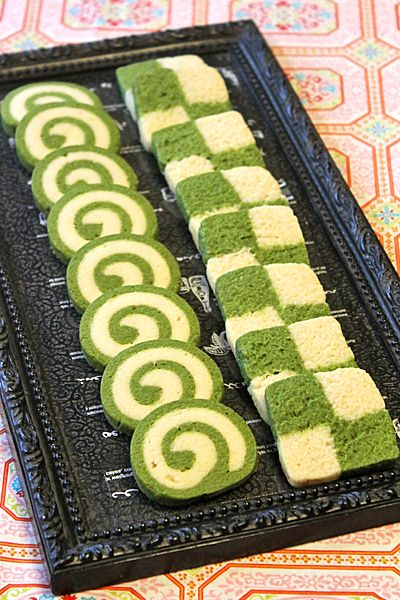 Matcha Pinwheel Cookies (In Japanese)