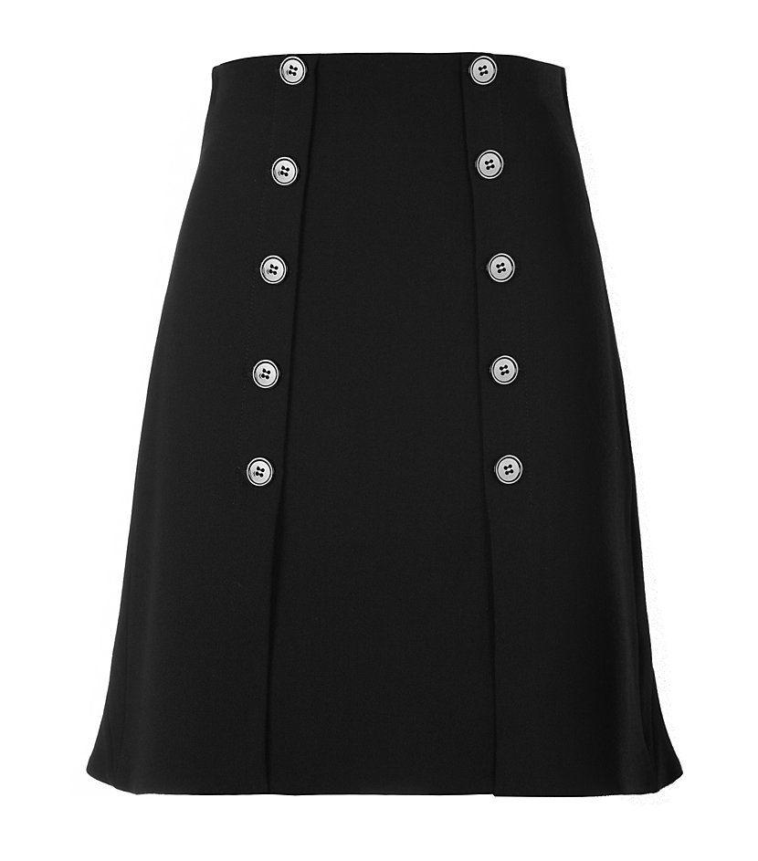 Alexander McQueen Crepe A-Line Skirt   Harrods