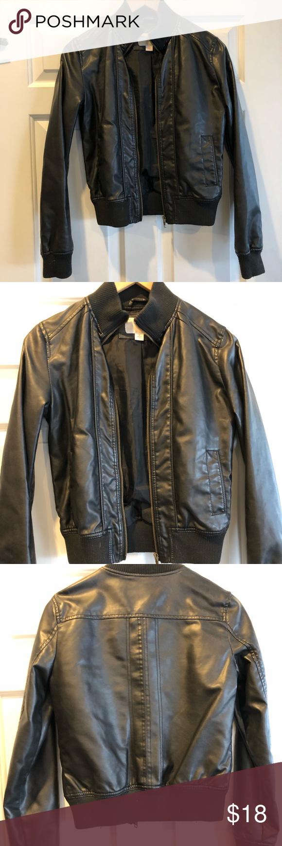 Xhilaration Faux Black Leather Jacket Black Leather Jacket Leather Jacket Vegan Leather Jacket [ 1740 x 580 Pixel ]