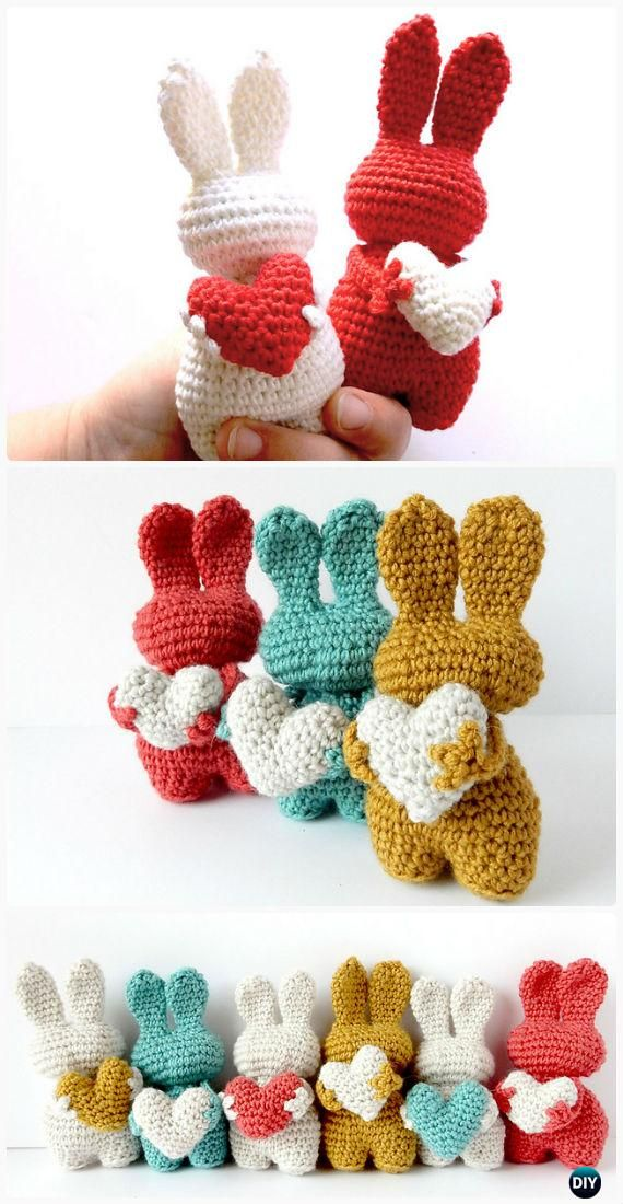 Crochet Amigurumi Bunny Toy Free Patterns Instructions | Häkeln ...