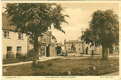 The Square, North Curry, Somerset, England. Inter-War (1918-39). Some of my ancestors were from North Curry - if you're researching the Denman, Broom or Baskett families, do get in touch! esjones <at> btopenworld.com