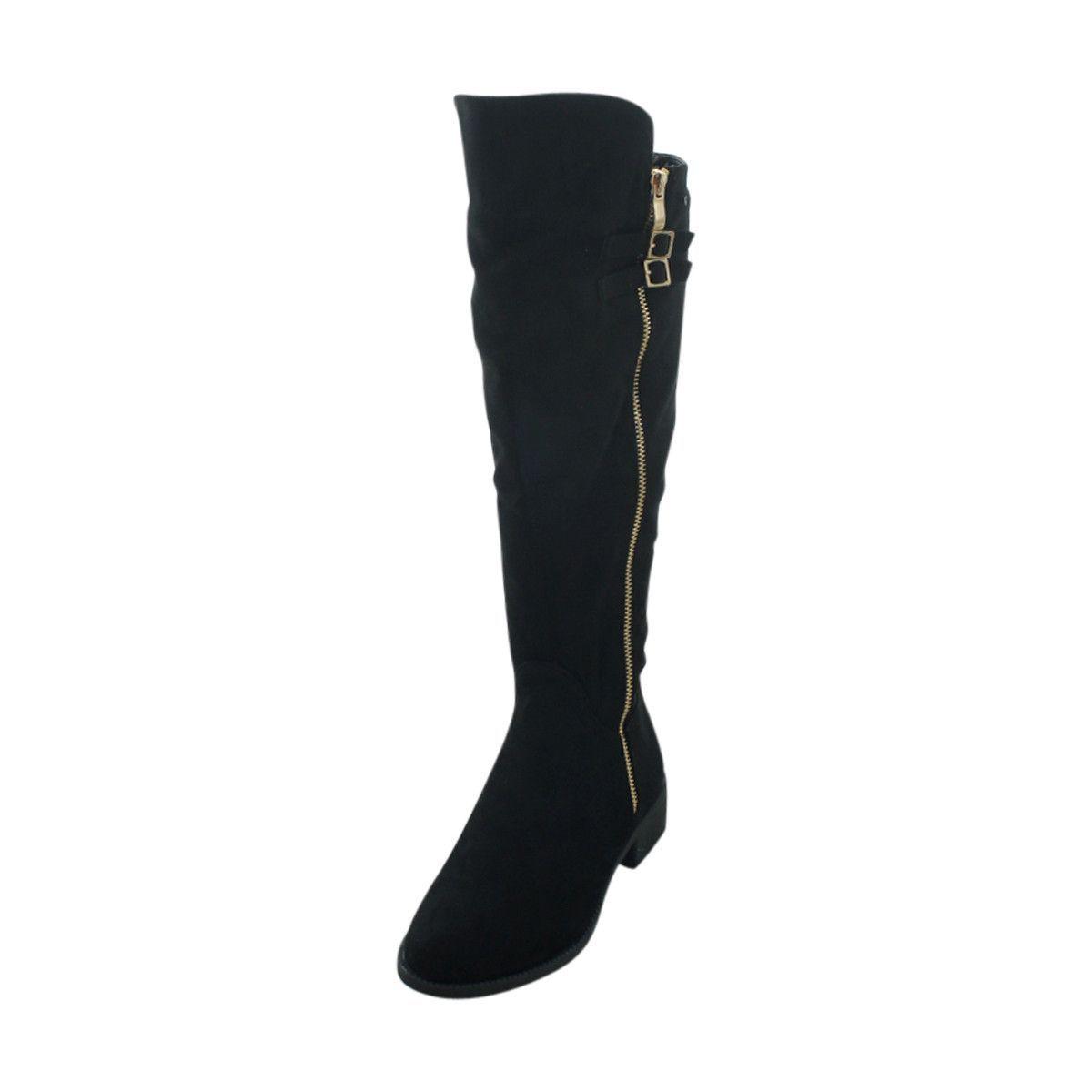 Top Moda - Women's Double Zipper Boots - Black