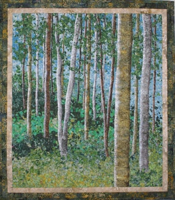 Birch Woods VI Wallhanging by Lenore Crawford by LenoreCrawford, 325.00