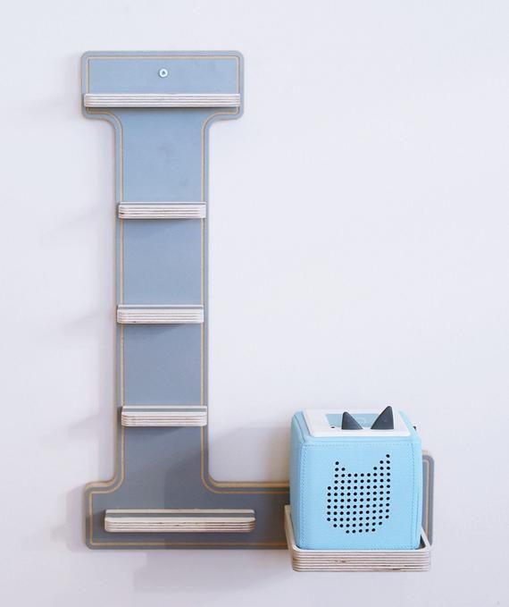 Boarti Letter L Grey The Shelf For The Music Box Toniebox
