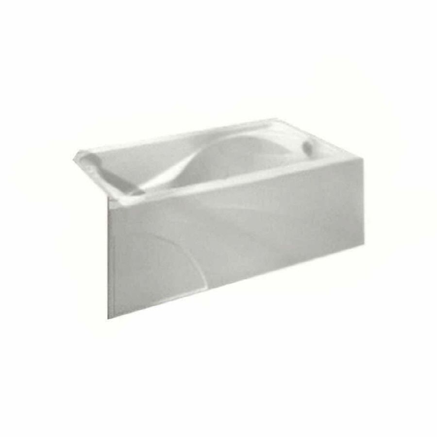 American Standard Cadet 60-in White Acrylic Alcove Bathtub with ...