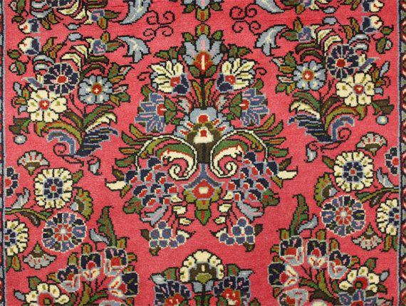 Tappeto di persiano anziano cm 305 x 83 Sarouk di