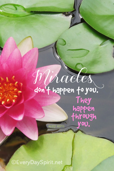 """""""Miracles"""" Print. All ready for a cute frame as a sweet reminder for your desk. On Etsy. www.everydayspirit.net xo"""