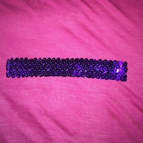 Purple Sequin Headband Stretchy sequin headband Accessories Hair Accessories