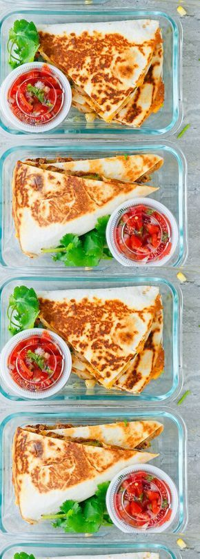 Spicy Chicken Ranch Quesadillas + Meal Prep images