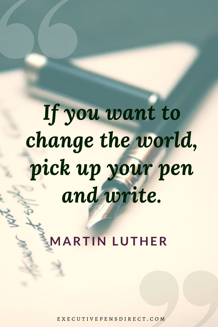 4 Inspiring Quotes About Pens & Writing  Inspirational quotes