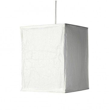 Pair of Rice Paper Cube Lanterns NE Pendant Shade