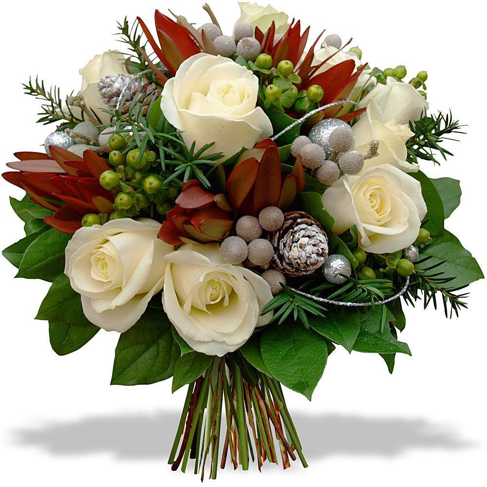 Souvent Bouquet Roses blanches en fête | Noël | Pinterest | Noel and Artisan EY33