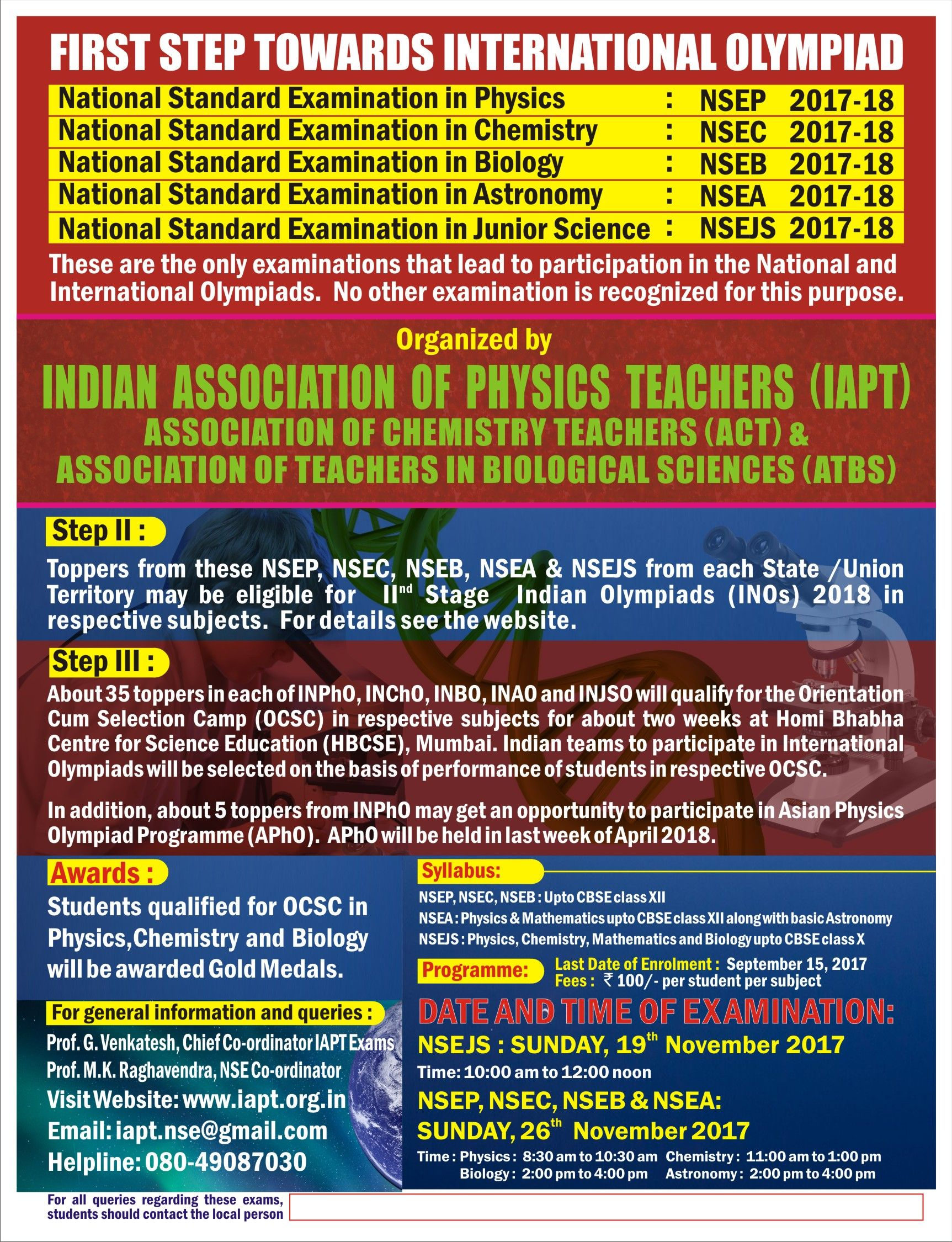 NATIONAL OLYMPIAD FOR STUDENTS (With images