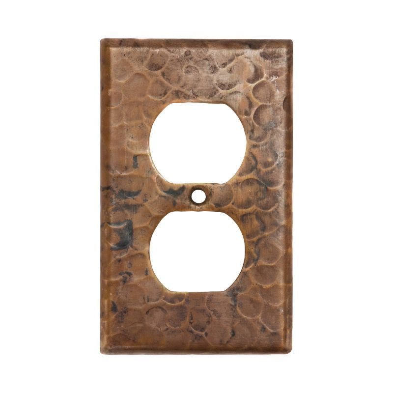 Premier Copper Products Copper Switchplate Single Duplex 2 Hole Outlet Cover (Set of 2) (Oil Rubbed Bronze), Brown