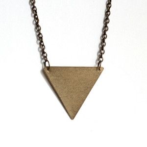 Inverted Triangle Necklace now featured on Fab.