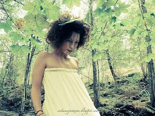 Beautiful Mexican Model lost in Swedish Forest, by Saia Vergara Jaime