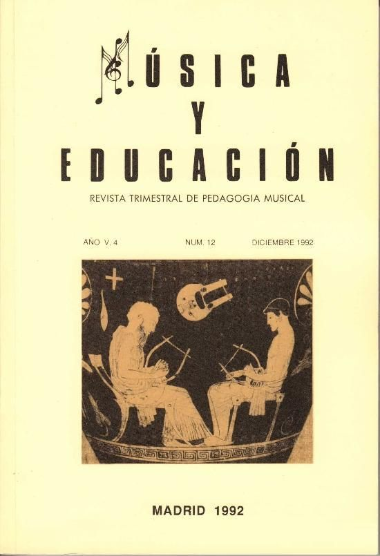 Revista Música y Educación. Editorial Musicalis, S.A., Madrid, 1988-2016 http://www.musicalis.es/