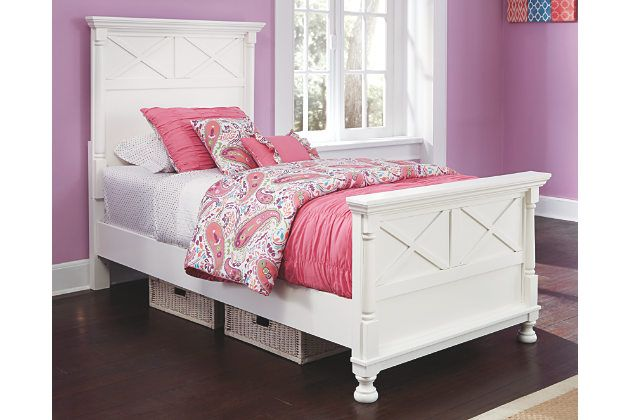 Best Kaslyn Twin Panel Bed White Large Panel Bed Furniture 640 x 480