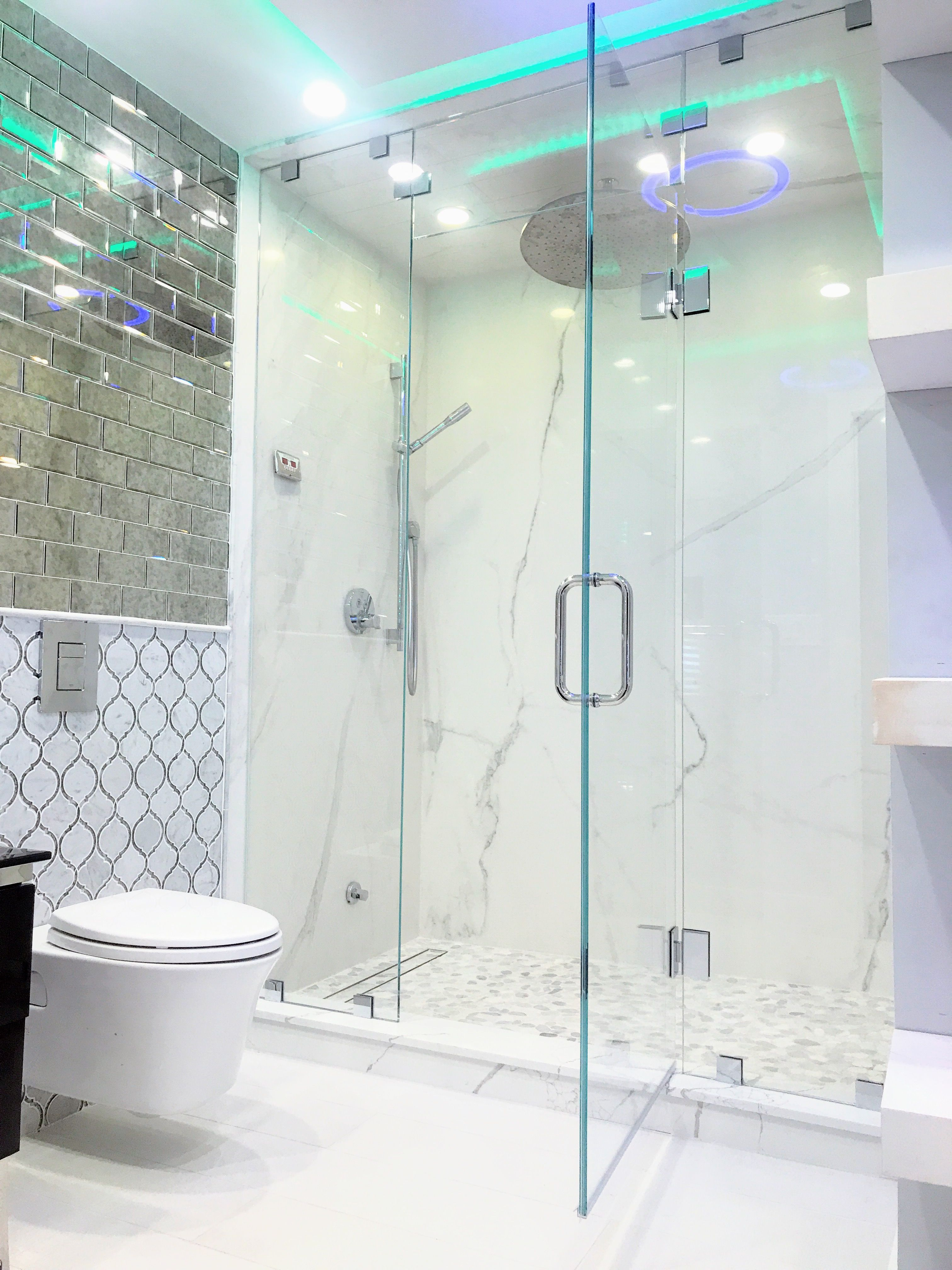 Custom glass shower doors and shower enclosures by Ultimate Glass ...