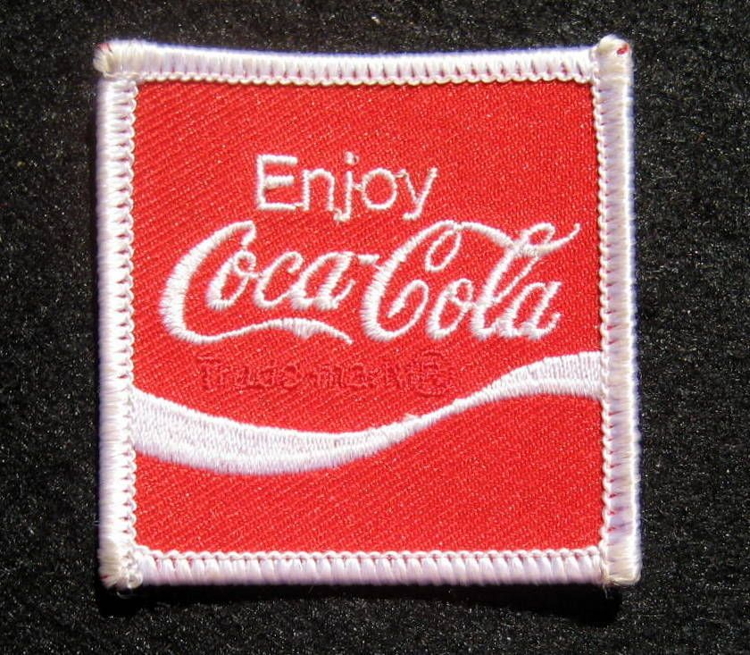 "COCA-COLA SQUARE /""ENJOY COCA-COLA/"" CLOTHING PATCH"