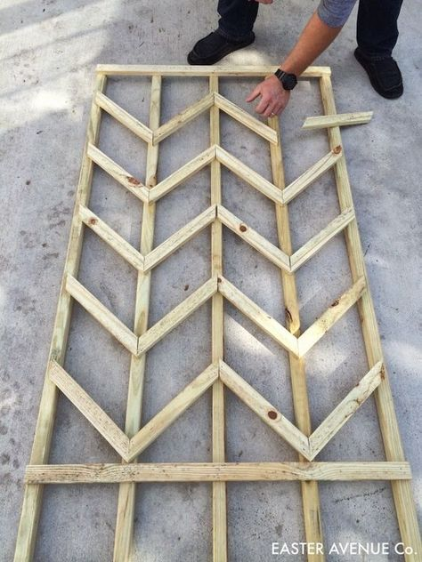 How To Build A Chevron Lattice For Garden Plants Step 15 Easter Avenue Co On Remodelaholic