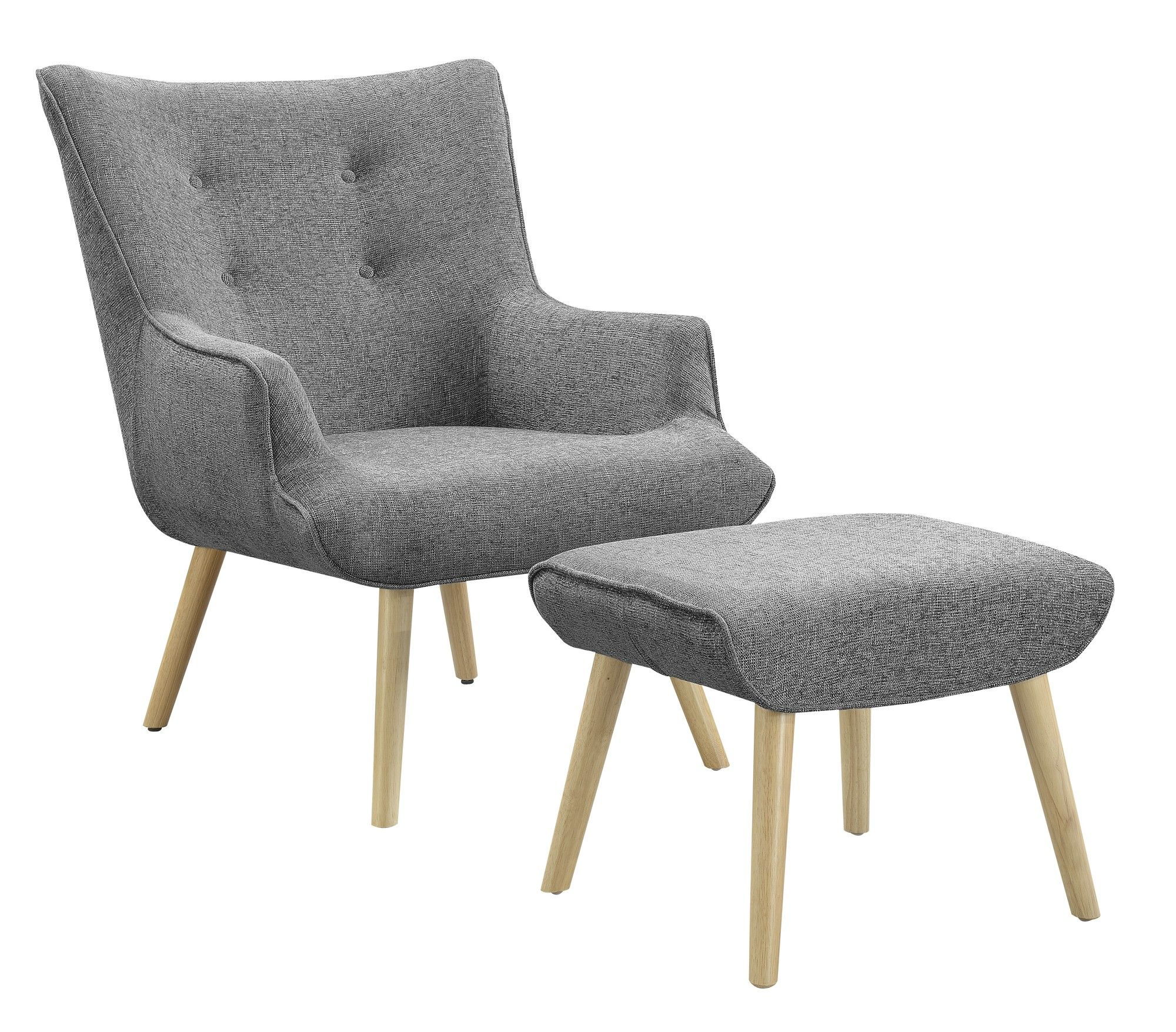 Miles Armchair & Ottoman Set | Armchairs, Living room chairs and ...