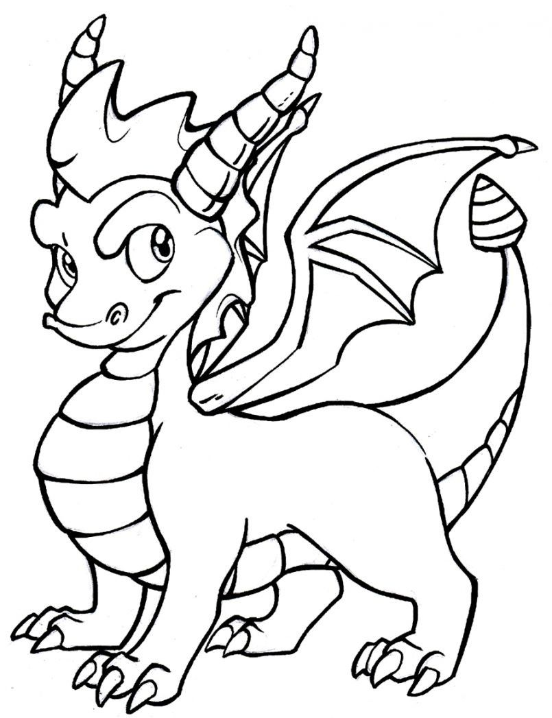 25+ Cute easy dragon coloring pages ideas in 2021