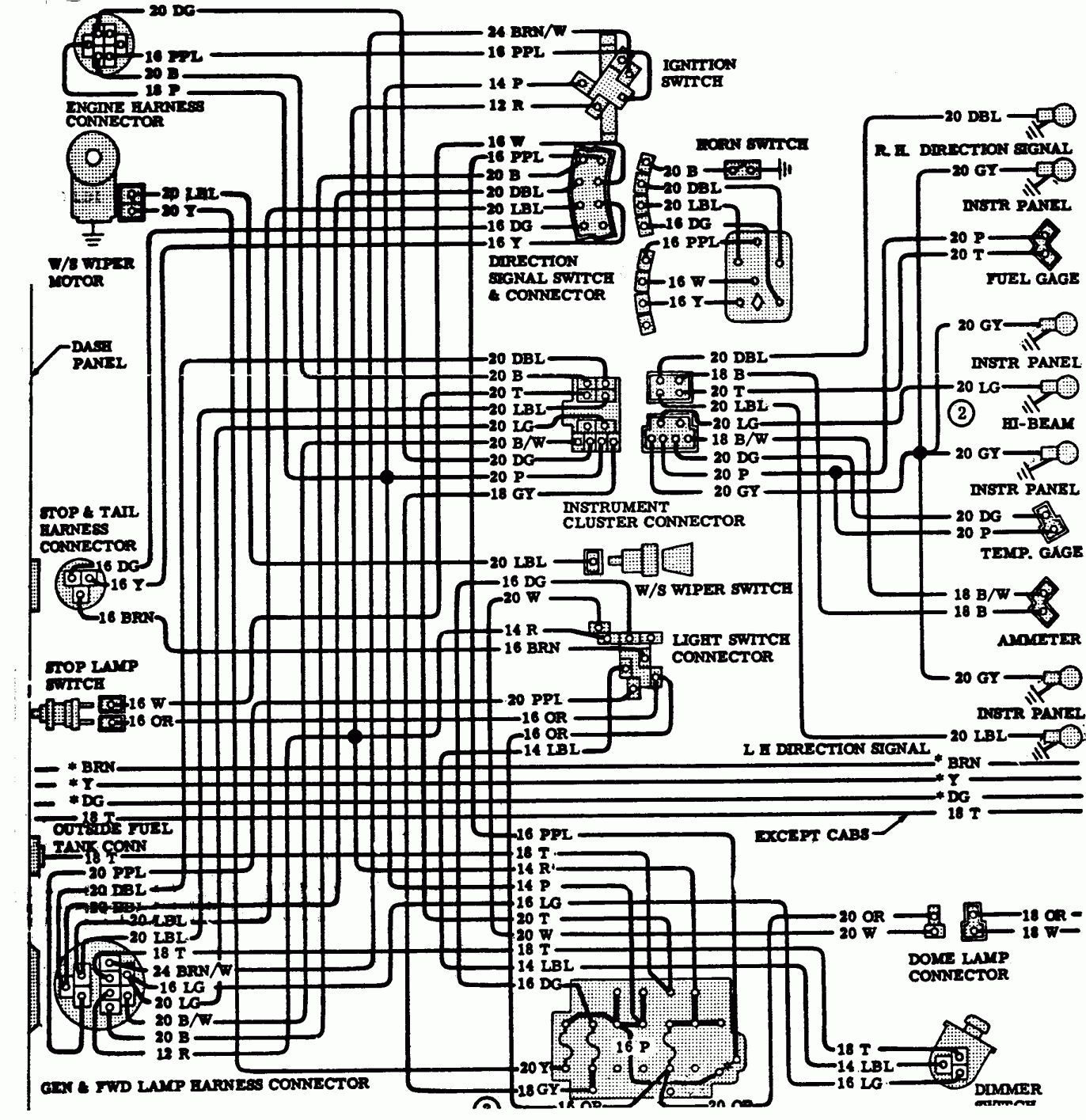 16 1986 Dodge Truck Wiring Diagram Truck Diagram Wiringg Net Pickup Trucks Chevy Trucks 1974 Chevy Truck