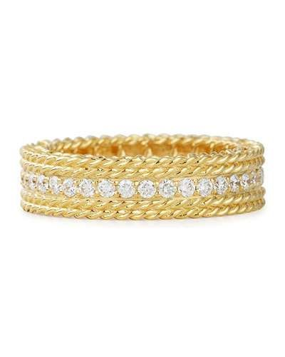 Roberto Coin Symphony Collection 18K Gold Stacked Barocco Ring, Size 6.5