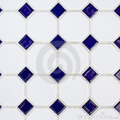 Blue And White Tile Floor Google Search