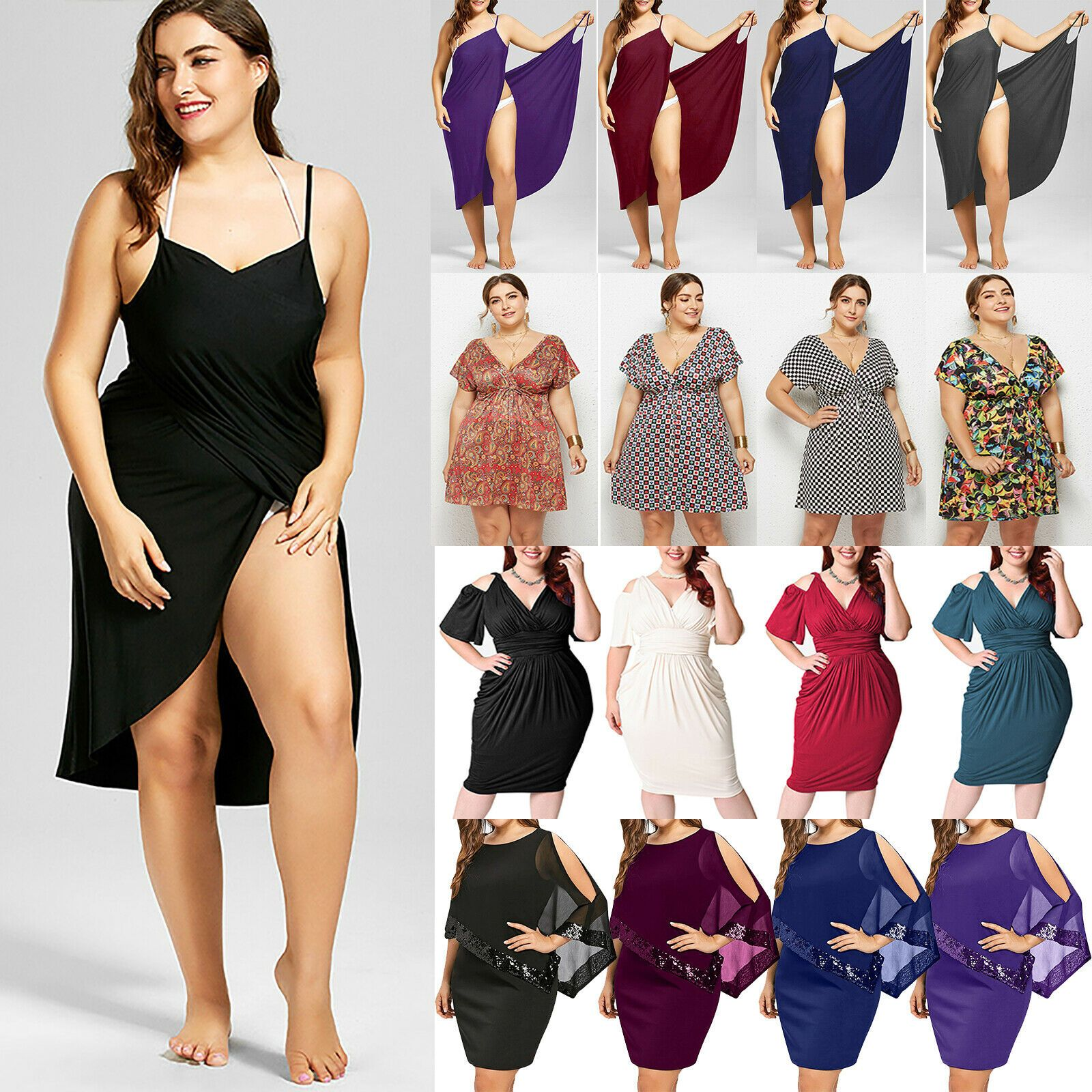 Short in 11  Casual dresses plus size, Plus size mini